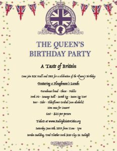 A Taste of Britain: The Queen's Birthday Party @ Borden Building, Fred Fletcher Park