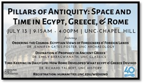 Pillars of Antiquity: Space and Time in Egypt, Greece and Rome @ University of North Carolina at Chapel Hill